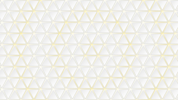 Fundo abstrato de azulejos triangulares brancos com lacunas amarelas entre eles