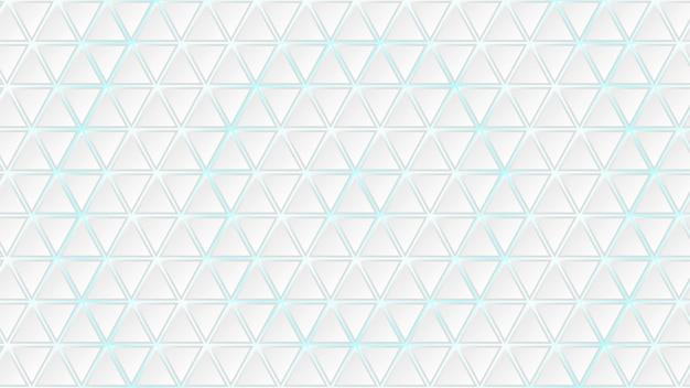 Fundo abstrato de azulejos triangulares brancos com lacunas em azul claro entre eles