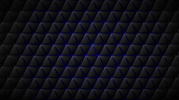 Fundo abstrato de blocos triangulares pretos com lacunas azuis entre eles