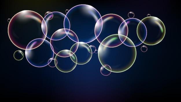 Fundo abstrato de bolha brilhante colorida de tecnologia futurista