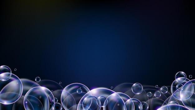 Fundo abstrato de bolha de tecnologia futurista brilhando com o espaço vazio