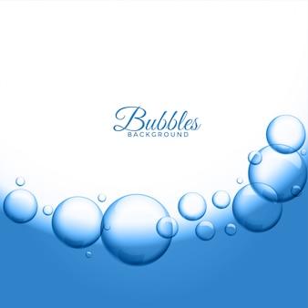 Fundo abstrato de bolhas de água ou sabão