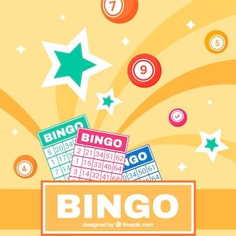 Fundo abstrato de cédulas de bingo