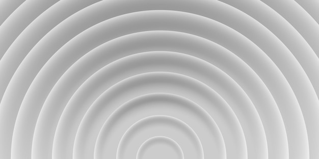 Fundo abstrato de círculos com sombras, cores cinza, brancas, estilo 3d. modelo gráfico, textura de vetor geométrico para modelo de impressão, folheto, web, capa