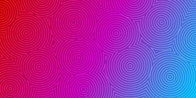 Fundo abstrato de círculos concêntricos nas cores roxa e azul