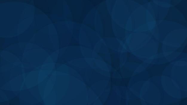 Fundo abstrato de círculos translúcidos em cores azuis