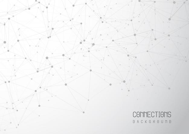 Fundo abstrato de conexões