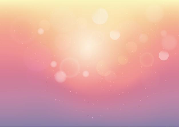 Fundo abstrato de cor pastel com bokeh