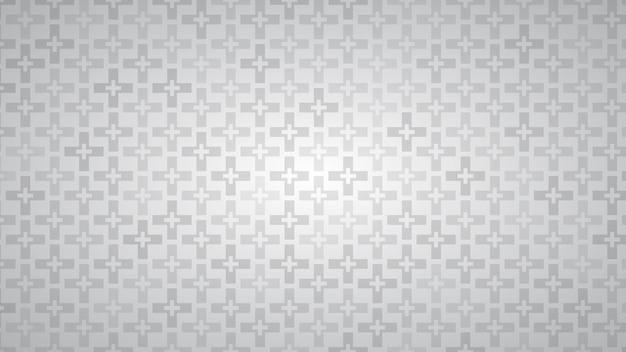 Fundo abstrato de cruzes em tons de cinza