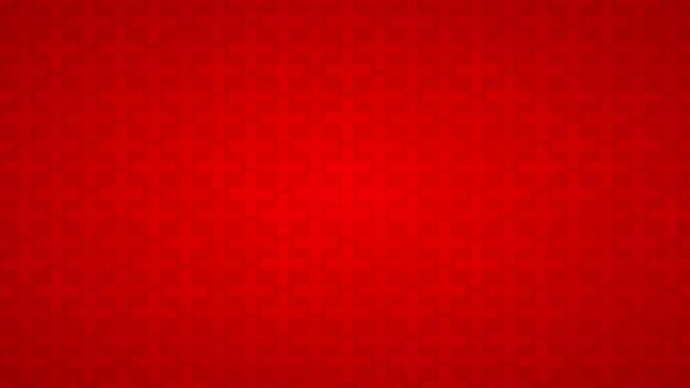 Fundo abstrato de cruzes em tons de vermelho