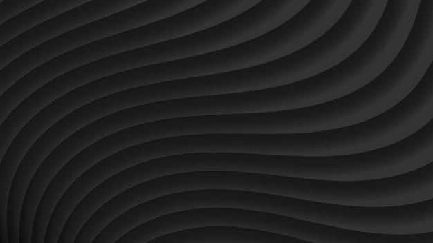 Fundo abstrato de curvas de gradiente em cores pretas