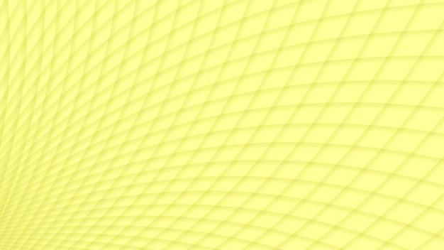 Fundo abstrato de curvas de gradiente interceptadas em cores amarelas