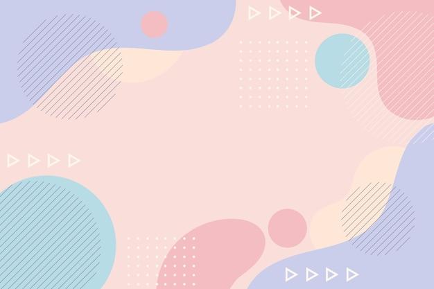 Fundo abstrato de design plano