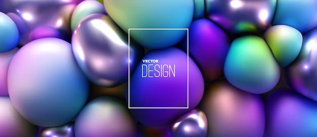 Fundo abstrato de esferas comprimidas multicoloridas