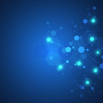 Fundo abstrato de estruturas moleculares