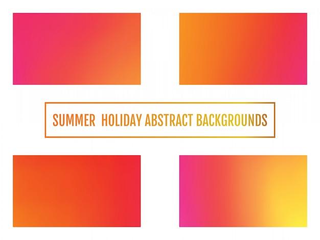 Fundo abstrato de férias de verão conjunto de brilhante festivo