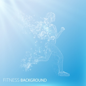 Fundo abstrato de fitness