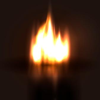 Fundo abstrato de fogo