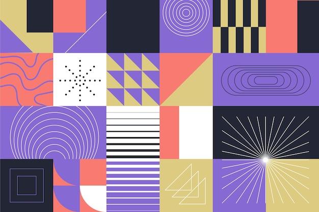 Fundo abstrato de formas geométricas