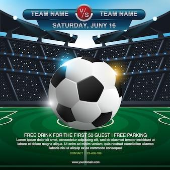 Fundo abstrato de futebol esportivo com espaço para texto e design