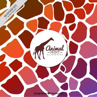 Fundo abstrato de girafa
