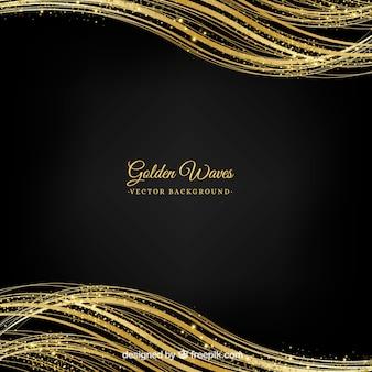 Fundo abstrato de glitter dourado