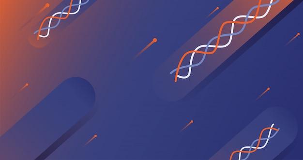 Fundo abstrato de hélice de dna