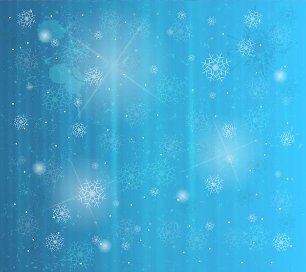 Fundo abstrato de inverno com flocos de neve