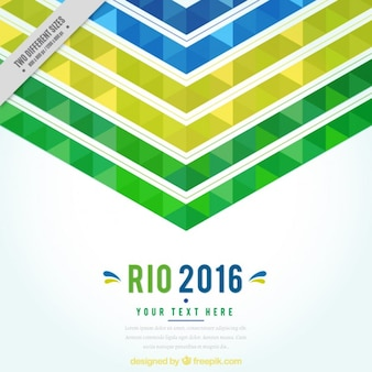 Fundo abstrato de jogos olímpicos de 2016