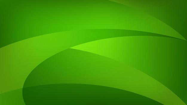Fundo abstrato de linhas curvas em cores verdes