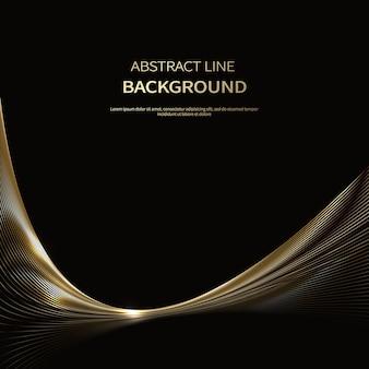 Fundo abstrato de linhas de ouro de luxo