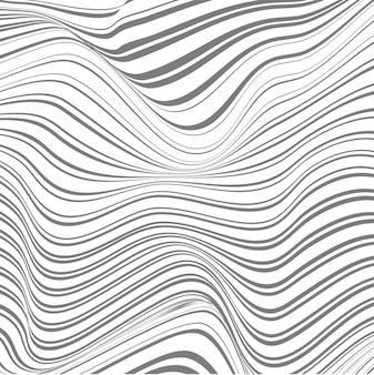 Fundo abstrato de linhas entortadas