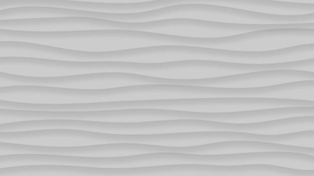 Fundo abstrato de linhas onduladas com sombras em cores cinza