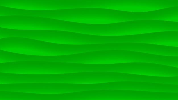 Fundo abstrato de linhas onduladas com sombras em cores verdes