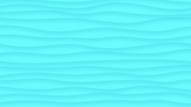 Fundo abstrato de linhas onduladas com sombras em tons de azul claro