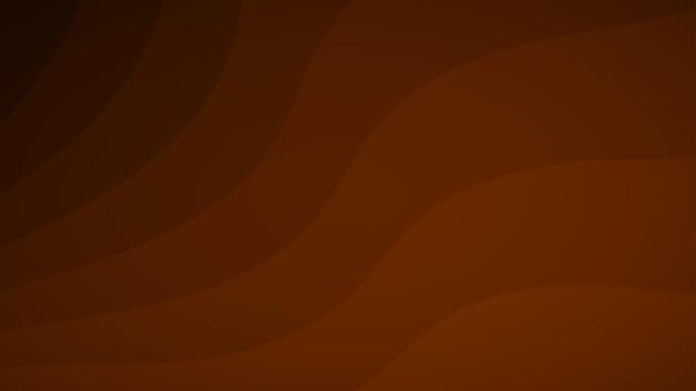 Fundo abstrato de linhas onduladas em tons de marrom