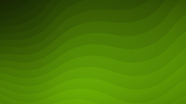 Fundo abstrato de linhas onduladas em tons de verde