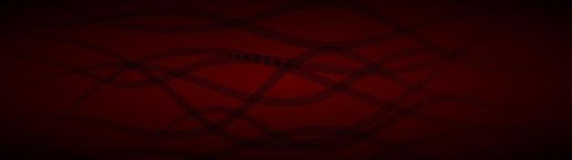 Fundo abstrato de linhas onduladas entrelaçadas em cores vermelho-escuras