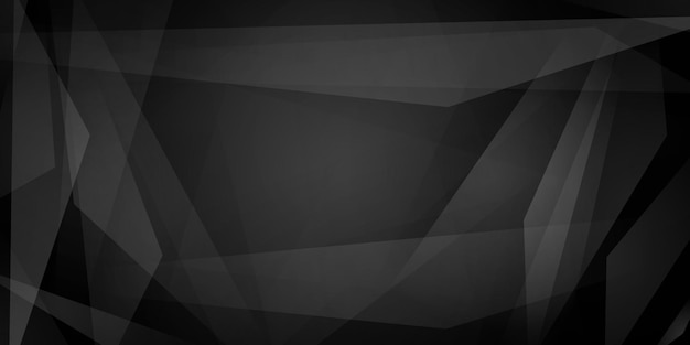 Fundo abstrato de linhas retas que se cruzam e polígonos translúcidos em cores pretas