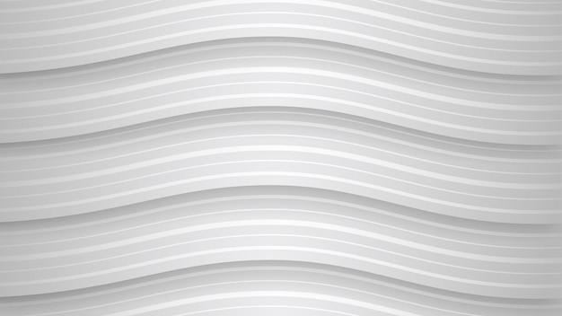 Fundo abstrato de listras brancas onduladas com sombras