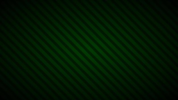 Fundo abstrato de listras inclinadas em cores verdes escuras