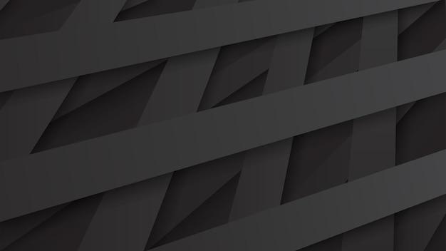 Fundo abstrato de listras pretas entrelaçadas com sombras
