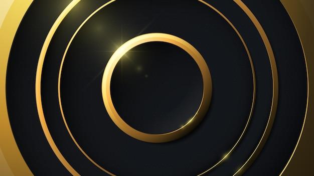 Fundo abstrato de luxo na forma de círculos.