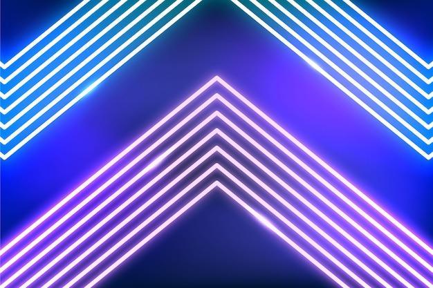 Fundo abstrato de luzes de néon