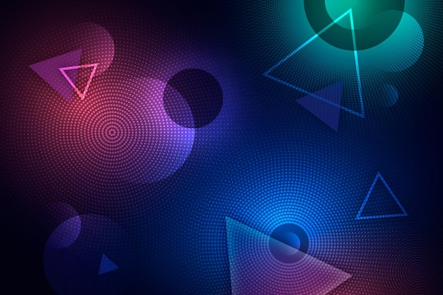 Fundo abstrato de meio-tom de néon