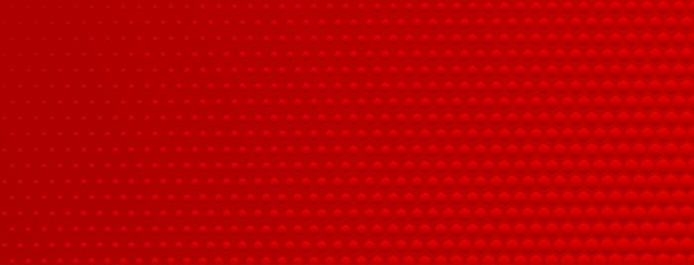 Fundo abstrato de meio-tom feito de pequenos pontos hexagonais de diferentes tamanhos em cores vermelhas