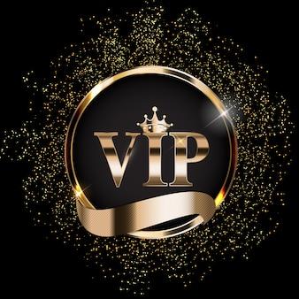 Fundo abstrato de membros vip de luxo