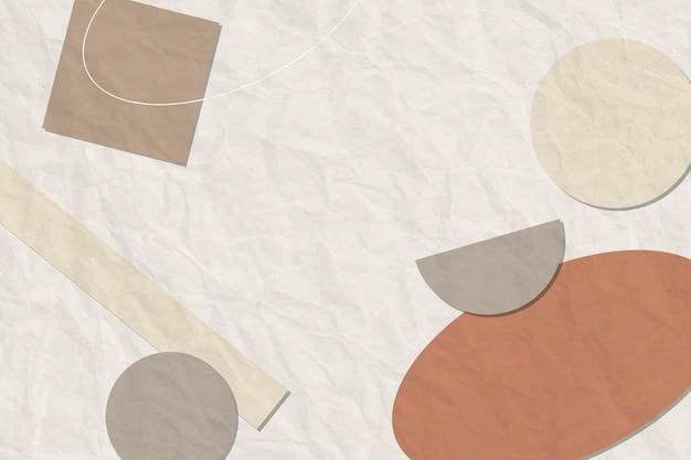 Fundo abstrato de memphis, vetor de formas geométricas em tons de terra