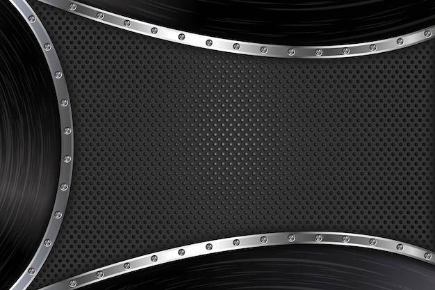 Fundo abstrato de metal preto