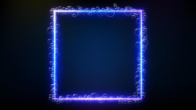 Fundo abstrato de moldura brilhante de bolha de tecnologia futurista
